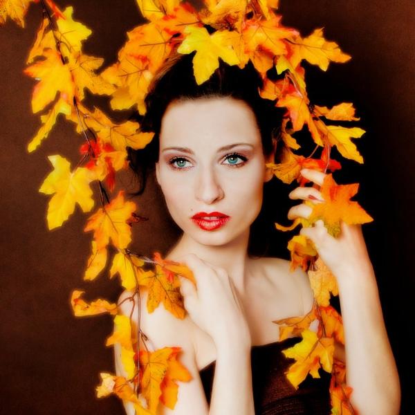 Herbst-Make-Up Blätter, Fotografin: Photo-Ocean.de