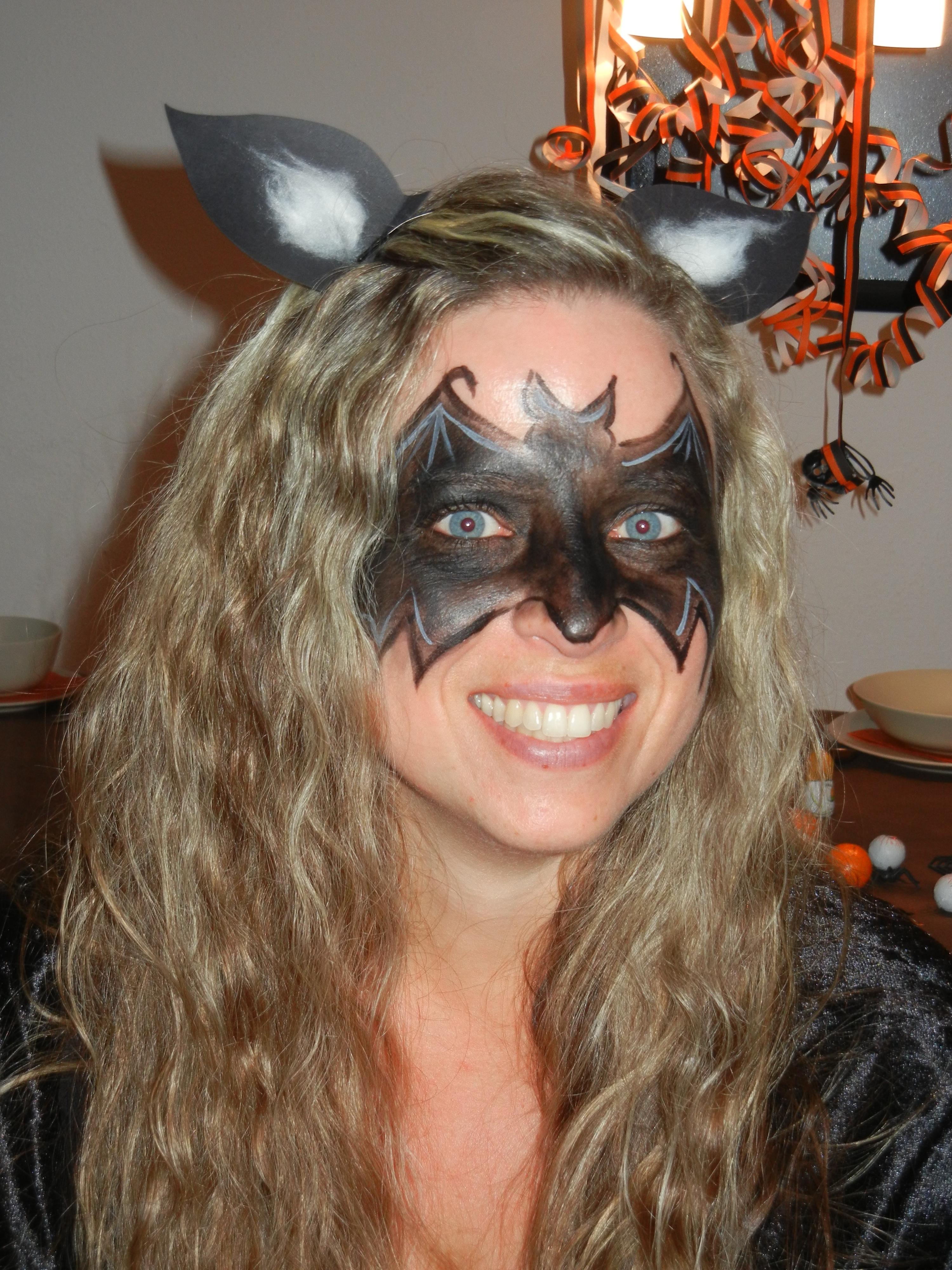einfache halloween schminke